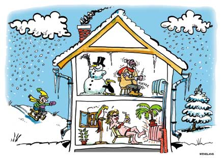1054_Cartoon Haus Innen Winter