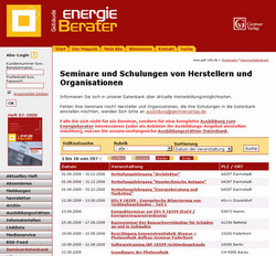 991 Screenshot GEB Seminardatenbank Energieberater August 2008