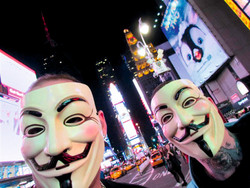 2624 Occupy-Demonstranten mit Anonymous-Masken
